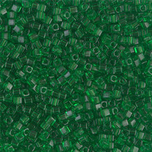 Japanese Miyuki 1.8mm CUBE Beads, SKU 189005.SB18-0146, transparent green, (1 tube, apprx 27-28 grams, apprx 2195 beads)