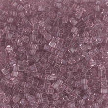 Japanese Miyuki 1.8mm CUBE Beads, SKU 189005.SB18-0142, transparent smoky amethyst, (1 tube, apprx 27-28 grams, apprx 2195 beads)