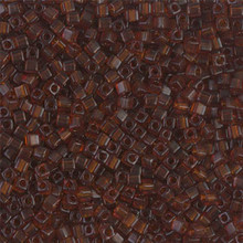 Japanese Miyuki 1.8mm CUBE Beads, SKU 189005.SB18-0134, transparent dark topaz, (1 tube, apprx 27-28 grams, apprx 2195 beads)