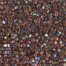 Japanese Miyuki 1.8mm CUBE Beads, SKU 189005.SB18-0257, transparent topaz ab, (1 tube, apprx 27-28 grams, apprx 2195 beads)