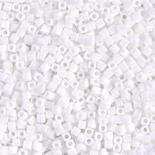Japanese Miyuki 1.8mm CUBE Beads, SKU 189005.SB18-0402, white, (1 tube, apprx 27-28 grams, apprx 2195 beads)