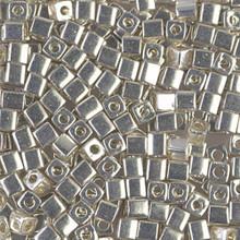 Japanese Miyuki 3x3 Cube Seed Bead, SKU 188003.SB3-1051, galvanized silver, (1 24-28gr tube, apprx 440 beads)