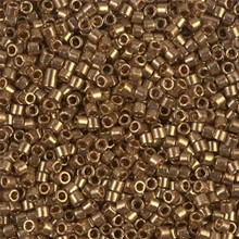 Miyuki 10/0 Medium Delicas, SKU 195016.DBM10-0022L, metallic light bronze, (1 10gram tube, apprx 1000 beads)