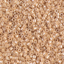 Miyuki 10/0 Medium Delicas, SKU 195016.DBM10-0205, light caramel ceylon, (1 10gram tube, apprx 1000 beads)