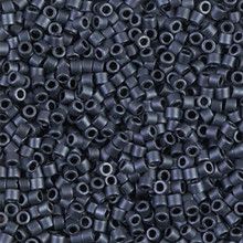 Miyuki 10/0 Medium Delicas, SKU 195016.DBM10-0301, matte gunmetal, (1 10gram tube, apprx 1000 beads)