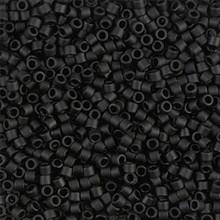 Miyuki 10/0 Medium Delicas, SKU 195016.DBM10-0310, matte black, (1 10gram tube, apprx 1000 beads)