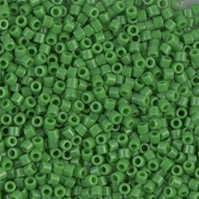 Miyuki 10/0 Medium Delicas, SKU 195016.DBM10-0724, opaque green, (1 10gram tube, apprx 1000 beads)