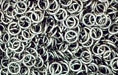 Nickel Plate Jump Ring, Round, 5mm exterior diameter, 21 gauge, (20 pieces)