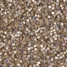 Delica Beads (Miyuki), size 11/0 (same as 12/0), SKU 195006.DB11-0680, dyed smokey quartz silk satin, (10gram tube, apprx 1900 beads)