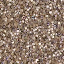 Delica Beads (Miyuki), size 11/0 (same as 12/0), SKU 195006.DB11-0680, dyed smokey quartz silk satin, (10gram tube, apprx 1900 beads)