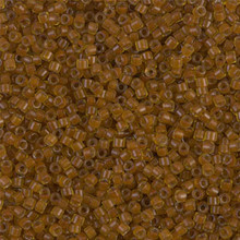Delica Beads (Miyuki), size 11/0 (same as 12/0), SKU 195006.DB11-1391, mustard lined amber, (10gram tube, apprx 1900 beads)
