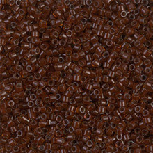 Delica Beads (Miyuki), size 11/0 (same as 12/0), SKU 195006.DB11-1392, dark topaz lined rootbeer, (10gram tube, apprx 1900 beads)