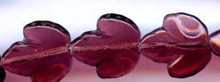 21x19mm Glass Leaf Bead, Maple Leaf, Czech Glass, amethyst, (25 beads)