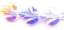 21x19mm Glass Leaf Bead, Maple Leaf, Czech Glass, crystal ab, (25 beads)