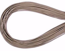 Leather, European (Greek), Round Cord, 1.5mm, Grey, 5-meters, (5-meters length)