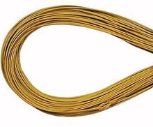 Leather, European (Greek), Round Cord, 1.5mm, Yellow, 50-meter skein, (1 skein)