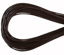 Leather, European (Greek), Round Cord, 1.5mm, Dark Brown, 5-meters, (5-meters length)