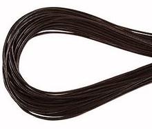 Leather, European (Greek), Round Cord, 1.5mm, Dark Brown, 50-meter skein, (1 skein)