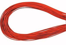 Leather, European (Greek), Round Cord, 1.5mm, Orange, 5-meters, (5-meters length)