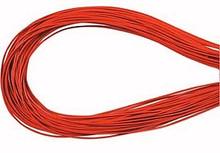 Leather, European (Greek), Round Cord, 1.5mm, Orange, 50-meter skein, (1 skein)