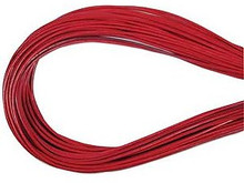 Leather, European (Greek), Round Cord, 1.5mm, Dark Rose, 50-meter skein, (1 skein)