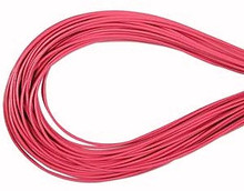 Leather, European (Greek), Round Cord, 1.5mm, Pink, 5-meters, (5-meters length)