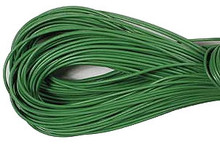 Leather, European (Greek), Round Cord, 1.5mm, Grass Green, 50-meter skein, (1 skein)