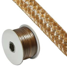 Faux Snake Skin Cord, Flat, 3mm, Brown (10 yards)