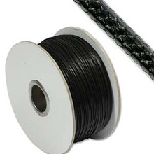 Faux Snake Skin Cord, Round, 1mm, Black, (10 yards)