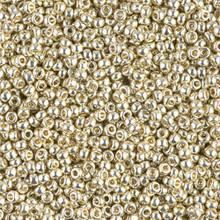 Japanese Miyuki Seed Beads, size 11/0, SKU 111030.MY11-4201, duracoat galvanized silver, (1 28-30 gram tube, apprx 3080 beads)