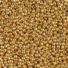 Japanese Miyuki Seed Beads, size 11/0, SKU 111030.MY11-4202, duracoat galvanized gold, (1 28-30 gram tube, apprx 3080 beads)