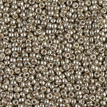 Japanese Miyuki Seed Beads, size 11/0, SKU 111030.MY11-4221, duracoat galvanized light pewter, (1 28-30 gram tube, apprx 3080 beads)