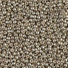 Japanese Miyuki Seed Beads, size 11/0, SKU 111030.MY11-4221, duracoat galvanized light pewter, (1 28-30 gram tube, apprx 3080 beads)