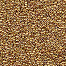 Japanese Miyuki Seed Beads, size 6/0, 4202, duracoat galvanized gold, (1 tube, apprx 24-28 grams, apprx 315 beads per tube)