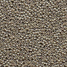 Japanese Miyuki Seed Beads, size 6/0, 4221, duracoat galvanized light pewter, (1 tube, apprx 24-28 grams, apprx 315 beads per tube)