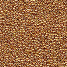 Japanese Miyuki Seed Beads, size 6/0, SKU 111031.MYK6-4203, duracoat galvanized yellow gold, (1 tube, apprx 24-28 grams, apprx 315 beads per tube)