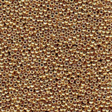 Japanese Miyuki Seed Beads, size 6/0, SKU 111031.MYK6-4204, duracoat galvanized champagne, (1 tube, apprx 24-28 grams, apprx 315 beads per tube)