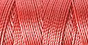 C-LON B-E-A-D C-O-R-D, #18/TEX 210 braided nylon multi-filament cord, 86 yards per bobbin, .5mm, chinese coral, (1 large bobbin)