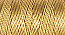 C-LON B-E-A-D C-O-R-D, #18/TEX 210 braided nylon multi-filament cord, 86 yards per bobbin, .5mm, wheat, (1 large bobbin)