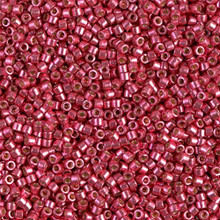 Delica Beads (Miyuki), size 11/0 (same as 12/0), SKU 195006.DB11-1841, duracoat galvanized light cranberry, (10gram tube, apprx 1900 beads)