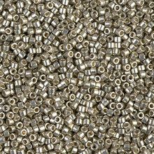 Delica Beads (Miyuki), size 11/0 (same as 12/0), SKU 195006.DB11-1851, duracoat galvanized light pewter, (10gram tube, apprx 1900 beads)