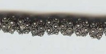 Oriental Metal Bead, 7-8mm, (4 beads)