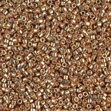 Delica Beads (Miyuki), size 11/0 (same as 12/0), SKU 195006.DB11-1834, duracoat galvanized champagne, (10gram tube, apprx 1900 beads)