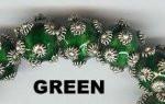 "Oriental Metal Bead, 10mm round, ""bali look"", green, (2 beads)"