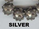 "Oriental Metal Bead, 16mm round, ""bali look"", silver, (2 beads)"