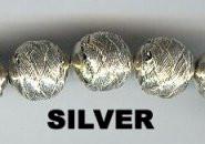 "Oriental Metal Bead, 12mm ""basket look"", silver on copper, (2 beads)"