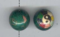 Oriental Metal Bead, 22mm yin yang bell bead, (1 bead)