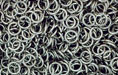 Nickel Plate (shiny) Jump Ring, Round, 5mm exterior diameter, 21 gauge, (50 pieces)