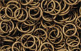 Brass Oxidized Jump Ring, Round, 7mm exterior diameter, 19-gauge, (20 pieces)