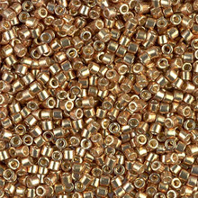 Miyuki 10/0 Medium Delicas, SKU 195016.DBM10-1834, duracoat galvanized champagne(1 10gram tube, apprx 1000 beads)